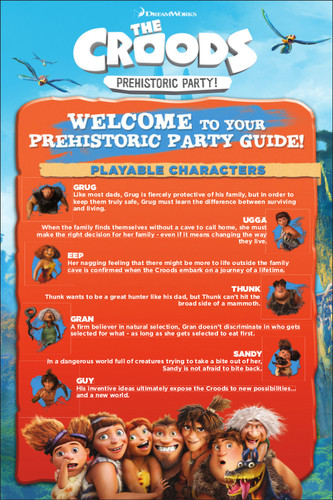 The Croods: Prehistoric Party - Party Guide Part 1