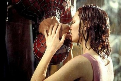The famous Spiderman kiss
