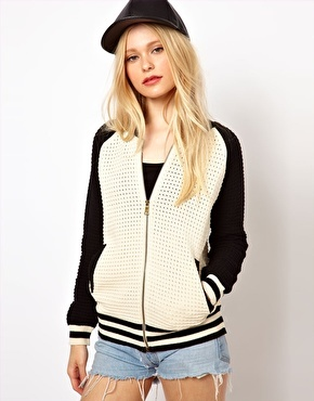 Baseball jacket from Asos, $70