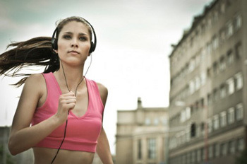 Running with headphones