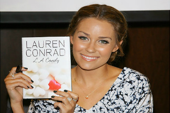 Lauren Conrad and her book, L.A. Candy