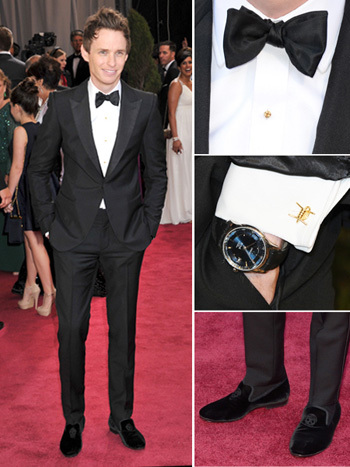 Eddie Redmayne looking dapper at the Oscars