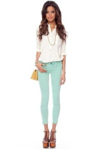 Mint Pants from Pinterest.com