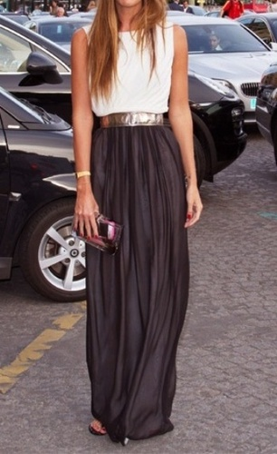 Black Maxi Skirt from Pinterest.com