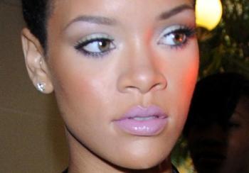 Rihanna's sugary lilac lips