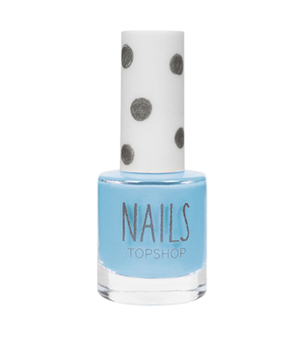 Topshop pastel blue nailpolish, $9