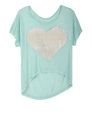 Delia's heart t-shirt, $19.50