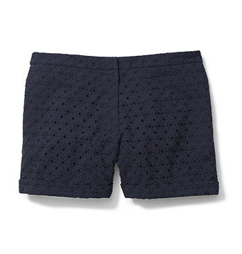 Joe Fresh navy eyelet shorts, $29