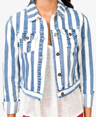 Forever 21 striped denim jacket, $19.75