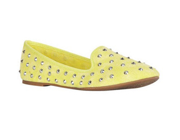 Studded yellow slippers, $29