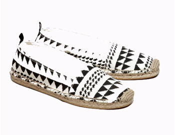 Patterned espadrilles, $24
