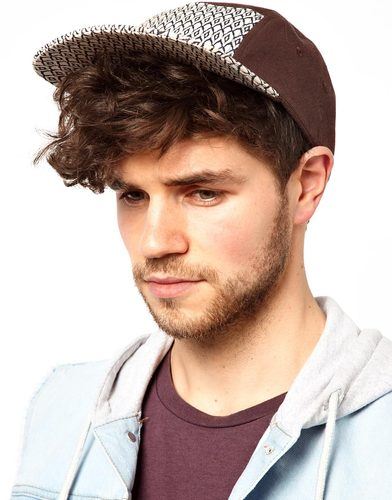 Diamond print baseball cap, $19, Asos