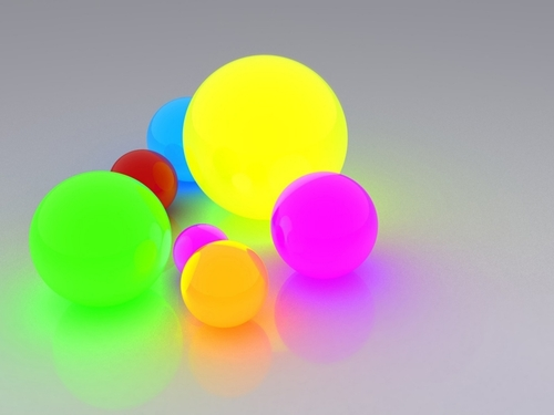 3d colorful balls backgrounds powerpoint