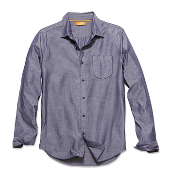 Denim shirt, $24, Joe Fresh