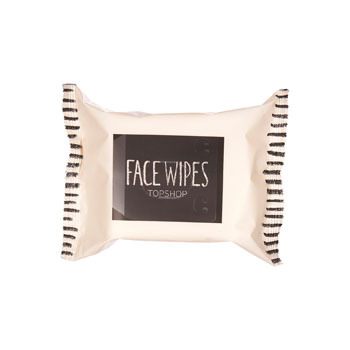 Topshop facial wipes, $5