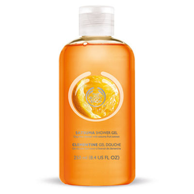 The Body Shop Satsuma shower gel, $5