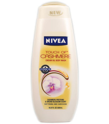 Nivea Touch of Cashmere Cream Oil Body Wash, $5.99