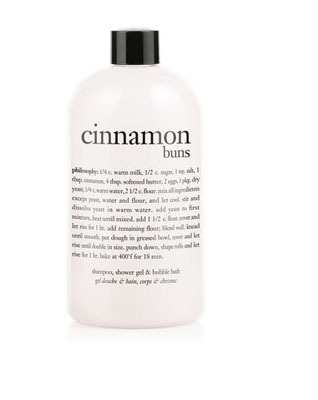 Philosophy Cinnamon Buns shower and bath gel, $12