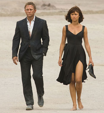 Olga with Daniel Craig in Quantum of Solace