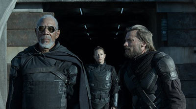 Morgan Freeman as the rebel leader