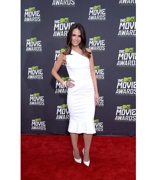 Jordana Brewster in a cool white dress
