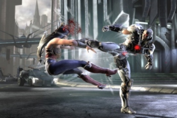 Injustice Wonder Woman vs Cyborg