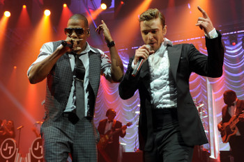 Jay-Z and JT performing