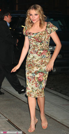 Chloe Moretz goes for super sophisticated florals
