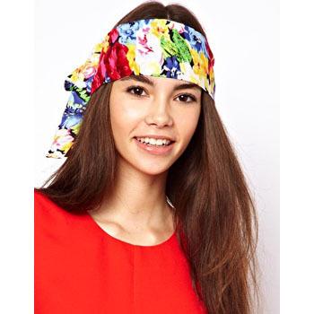 Asos floral scarf, $13