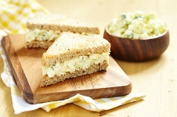 Mini egg salad sandwich