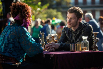 Klaus with the fortune teller