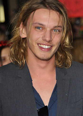 Jamie Campbell Bower's cool grungy look