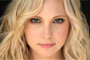 Candice Accola plays Caroline Forbes