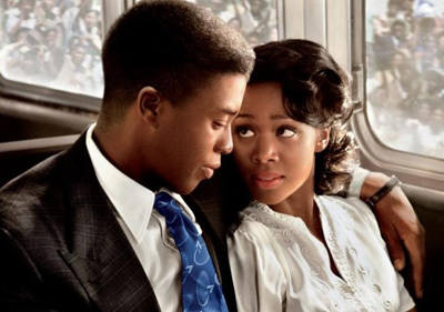 Chad with Nicole Beharie as Rachel Robinson