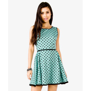 Forever 21 polka dot dress, $24