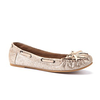 New Look metallic flats, $34