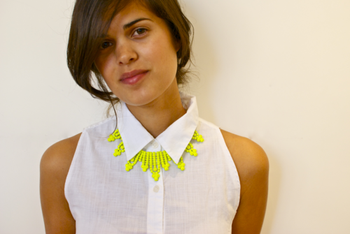 Rock a neon necklace!