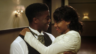 Jackie (Chad Boseman) and Rachel (Nicole Beharie) honeymoon