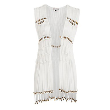New Look fringed vest, $23
