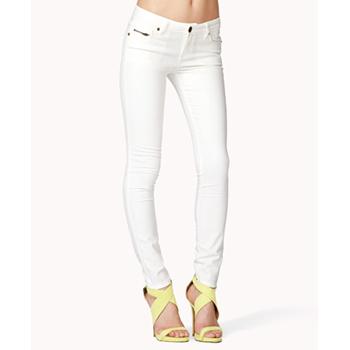 Forever 21 white jeans, $20