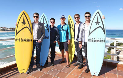 Zac Quinto (left) and some cast with