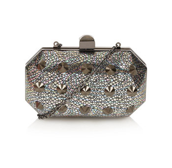 Topshop studded clutch, $35