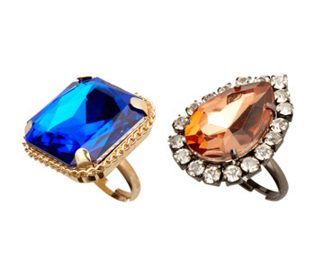 Asos cocktail rings, $12