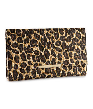 H and M leopard clutch, $12.95