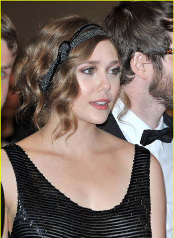 Elizabeth Olsen's pretty 1920s flapper look