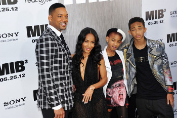 The Smith Family: Will, Jada, Willow and Jaden