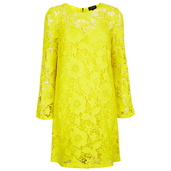 Topshop yellow lace dress, $65