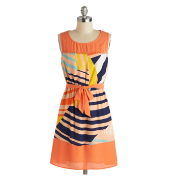 Modcloth printed dress, $47.99