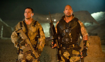 Channing Tatum and Dwayne Johnson in G.I. Joe Retaliation