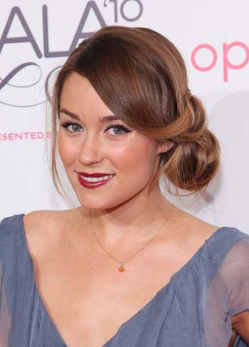 Lauren Conrad's pretty side up-do is super easy!